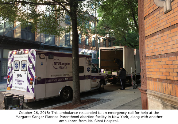 Abortion Patient Transported from Margaret Sanger Planned Parenthood