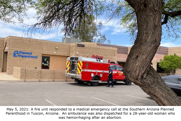This image has an empty alt attribute; its file name is Fire-Unit-at-Tucson-Planned-Parenthood-5-5-2021.jpg